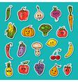 fruit and vegetables set vector image