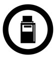 hand terminal black icon in circle vector image vector image