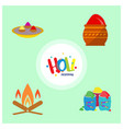 happy holi festival the festival of colors set of vector image vector image