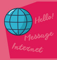 hello internet and message vector image vector image