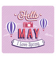 hello may typographic design vector image vector image
