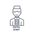 hotel staff line icon concept hotel staff vector image vector image