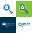 house and magnifying glass logo and icon vector image vector image