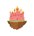 island castle on white background vector image vector image