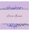 lavender invitation vector image