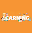 learning concept vector image vector image