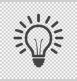 light bulb line icon isolated on isolated vector image vector image