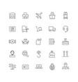 line icons set logistics pack batch vector image vector image