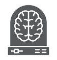machine learning glyph icon data and analytics vector image vector image
