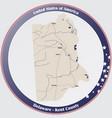 map kent county in delaware vector image vector image