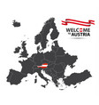 map of europe with the state of austria vector image vector image