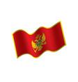 montenegro flag vector image vector image