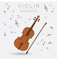 Musical instruments graphic template Violin