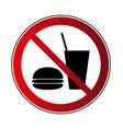 no food drink sign vector image