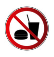 no food no drink sign vector image