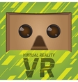 Original virtual reality cardboard headset device vector image vector image