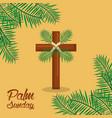 palm sunday holy week celebration sacred vector image vector image