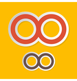 Paper Infinity Symbols on Yellow Background