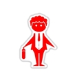 paper sticker on white background businessman vector image vector image