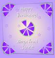 Postcard happy birthday magicfruit juice vector image