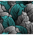 Retro seamless pattern with abstract doodle leaves vector image