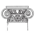 roman-ionic capital a design of a scroll rolled vector image vector image
