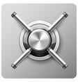 safe handle wheel - vault door strongbox vector image vector image