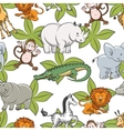 seamless pattern with safari animals vector image vector image