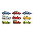 set of cars collection vehicle sedan hatchback vector image vector image