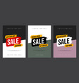 set three template web banner in different colors vector image