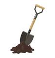 shovel in ground vector image