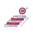steps up to target doodle drawn hand vector image