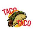 taco logo vector image vector image