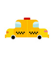 taxi cartoon style isolated transport on white vector image vector image