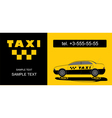 Taxi firm name card vector image vector image