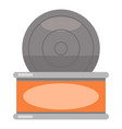 tin icon flat style vector image vector image