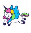 unicorn print vector image vector image