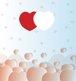 valentine love hearts vector image vector image