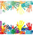 vector hand prints background vector image vector image