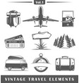 vintage travel elements vector image vector image