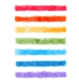 Watercolor rainbow banners vector image vector image