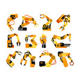 factory robot arms manufacturing industrial vector image