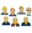Different cartoon men vector image