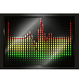 Heart beat line on equalizer vector image