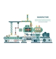 Industrial abstract machine in flat style vector image