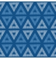 Abstract textile blue triangles ikat seamless vector image