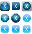 Asterisk blue app icons vector image