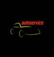 auto service template design vector image