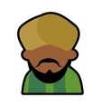 Avatar face indian man bearded mustache turban