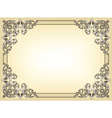 baroque floral frame vector image vector image